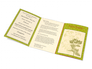 Garden Club - Oregano Herb Self Mailer
