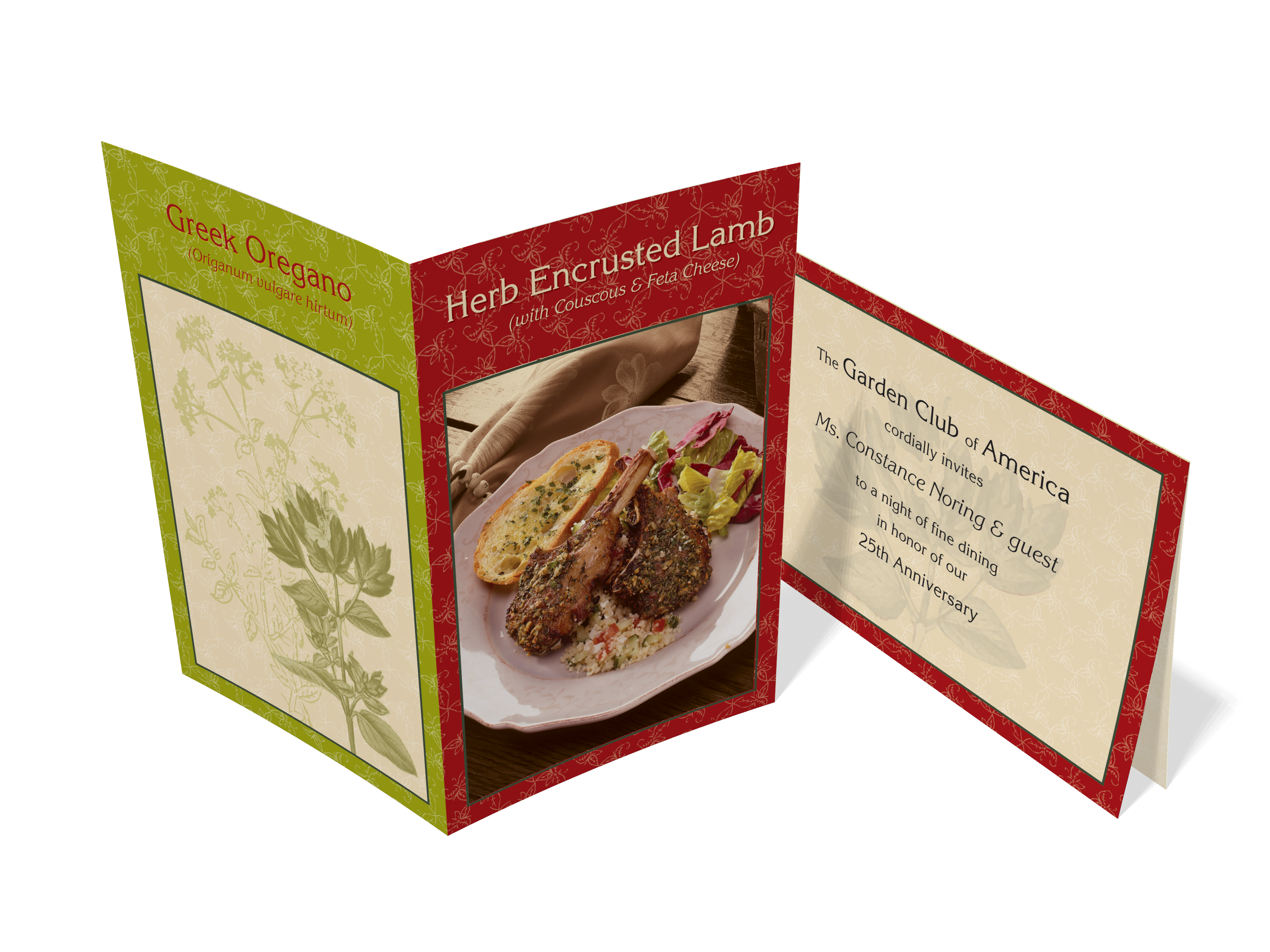 Garden Club   Oregano Herb Self Mailer